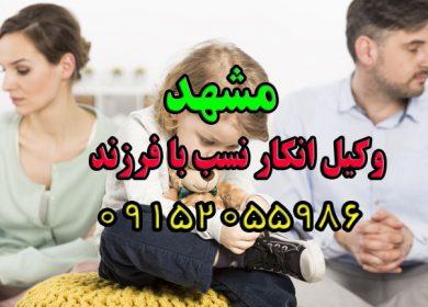 وکیل نفی نسب (فرزند) در مشهد در گلبهار و چناران 09152055986