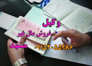 وکیل فروش مال غیر در مشهد و چناران و گلبهار09152055986