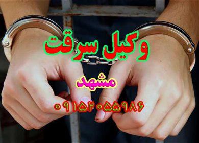 وکیل سرقت در مشهد 09152055986