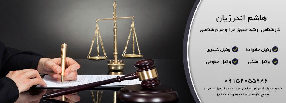 وکیل حقوقی - هاشم اندرزیان